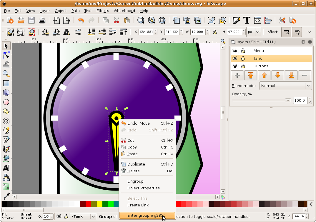 Help - HMI - Graphical Editing using Inkscape