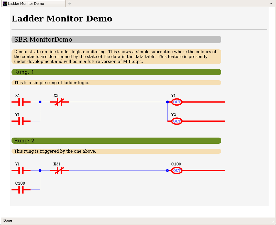 Ladder monitor page